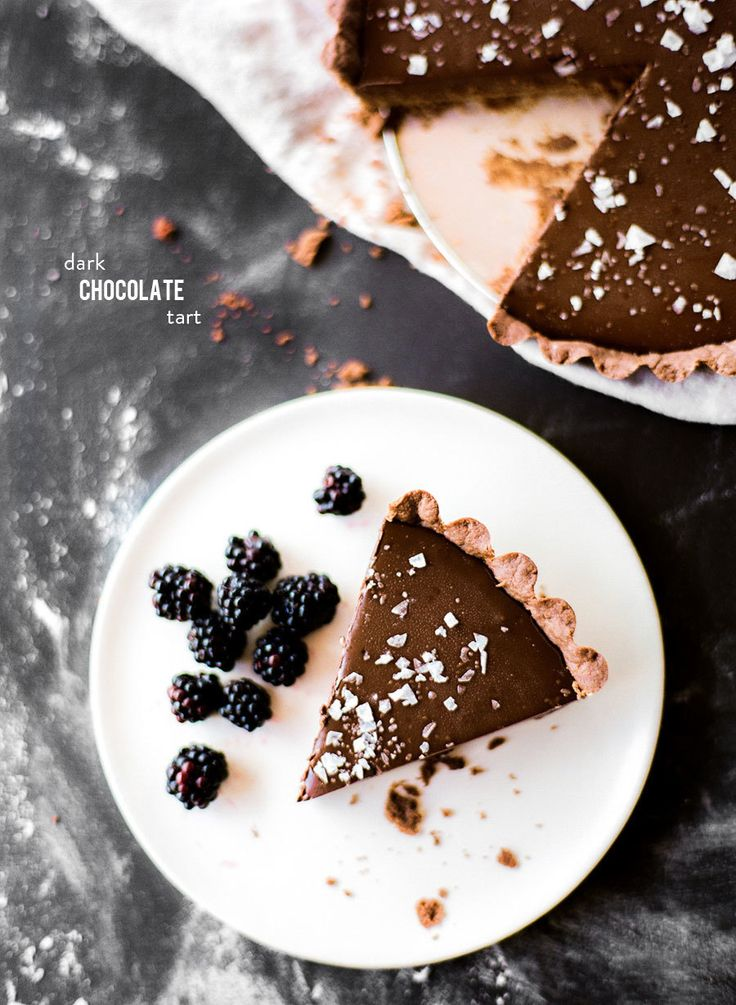 Delicious Dark Chocolate Tart