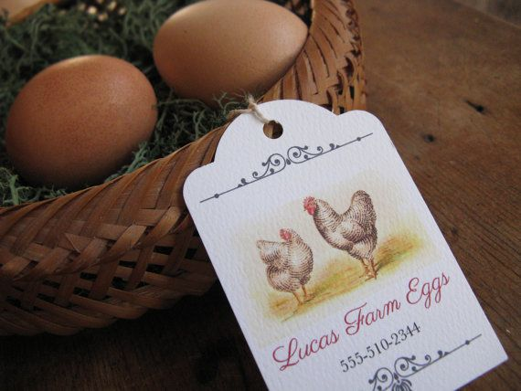 72 best labels images on pinterest egg boxes egg cartons and egg personalized tags chicken egg tags vintage hen gift tags custom egg label for your home raised chicken eggs pronofoot35fo Gallery
