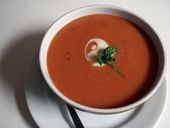 This creamy dairy-free version of the favorite soup is rich in color and in flavor.