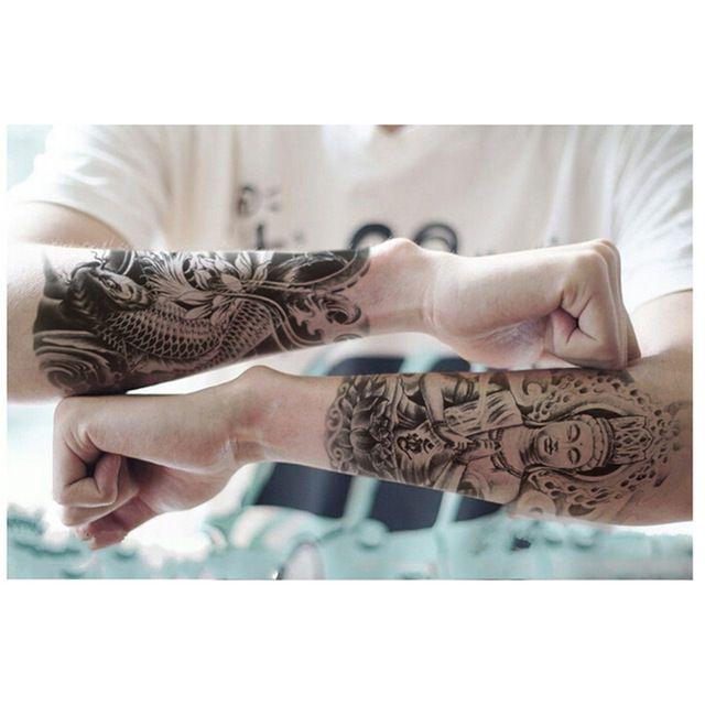 Плечо Татуировки Временные Tatto Мужчины Временные Водонепроницаемый Человек Рукоятки Татуировки Наклейки Поддельные Рукав Татуировки