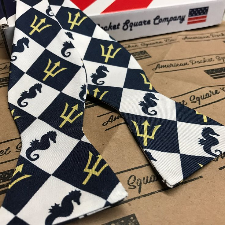 "American Pocket Square Company Pure Silk Bow Tie, ""Admiral Nimitz"", Made in the USA by AmericanPocketSquare on Etsy"