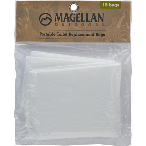 Magellan Outdoors Jon Bag Portable Toilet Replacement Bags 12-Pack White - Camping Equipment, Personal Care And Rv at Academy Sports