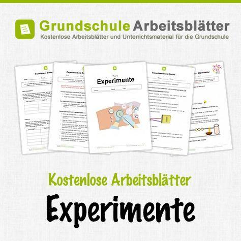 Kostenlose Arbeitsblätter und Unterrichtsmaterial zum Thema Experimente in der Grundschule.