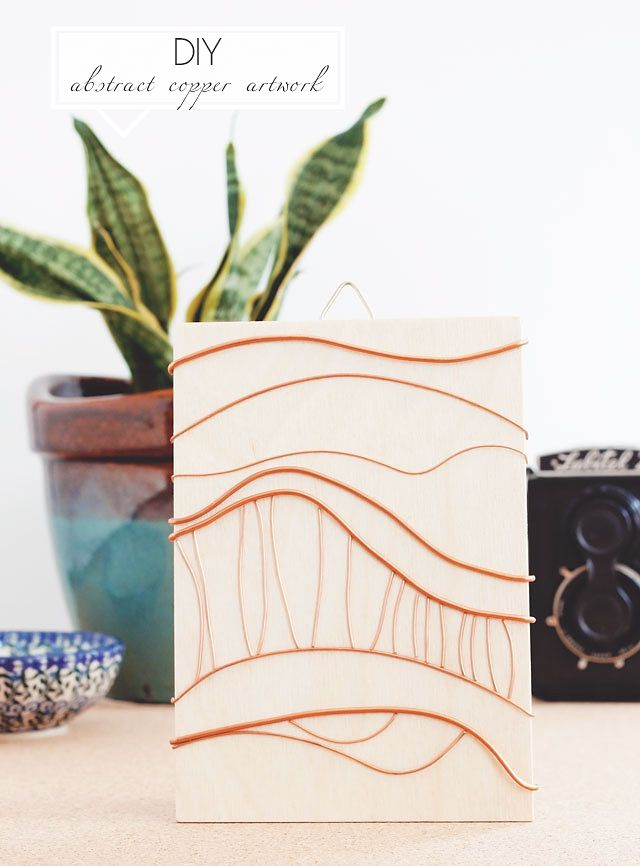 DIY Abstract Copper Artwork || Jade and Fern