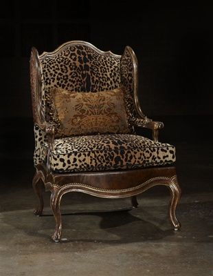 Leopard chair. Every house needs one random, ridiculously opulent chair. This could be even more so, with gilded wood.