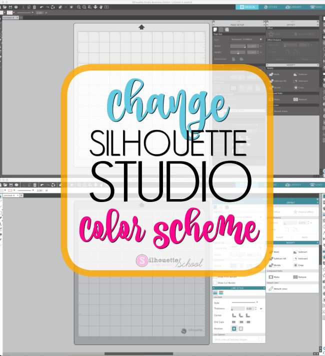 Did you know you can change the Silhouette Studio color scheme? If you don't like the way Silhouette Studio looks or if you find it difficult on your eyes you can actually change how the colors of de