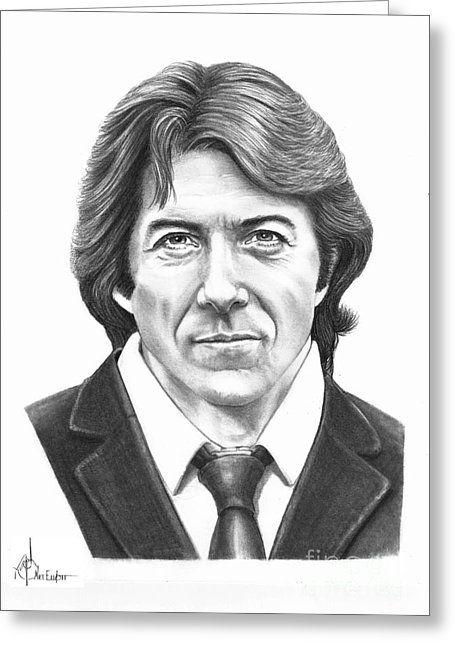 Dustin Hoffman Greeting Card by Murphy Elliott