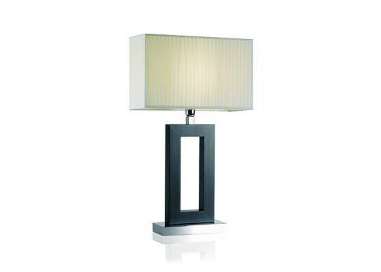 Lampada da tavolo con struttura in legno wengè e base in metallo cromato; paralume in tessuto   Wooden table lamp painted wengè, chromed metal base with fabric lamp shade.    art.1500.01    #Luxury #Lamp #interiorDesign #Design #Light #Madeinitaly