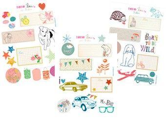 leuke set etiketten en stickertjes MIMI'lou | kinderen-shop Kleine Zebra