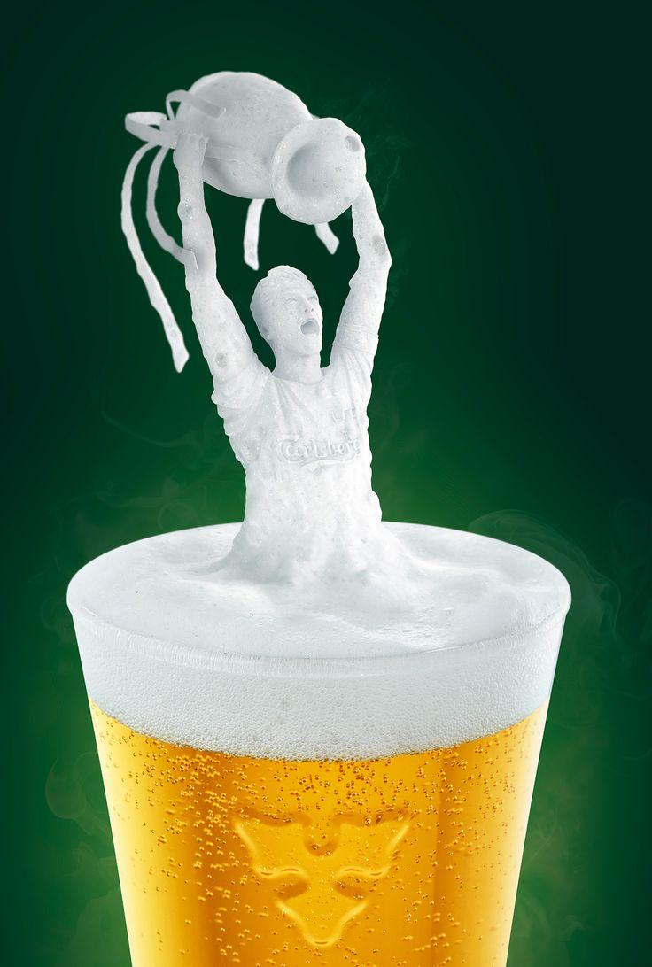 Carlsberg beer foam-scape on Behance