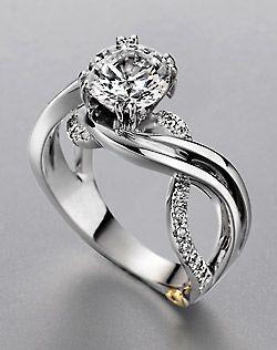 Such a unique engagement ring.