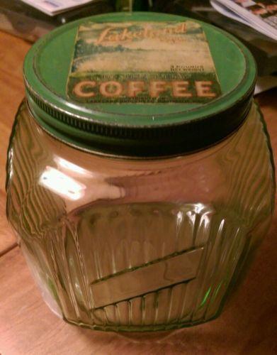 Vaseline-green-ribbed-hoosier-depression-glass-coffee-jar