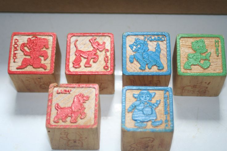 Vintage Wooden Toy Block Disney Characters,Collectible Toy,Castawayacres by Castawayacres on Etsy