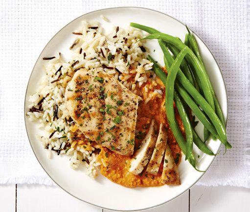 Grilled Chicken Romesco