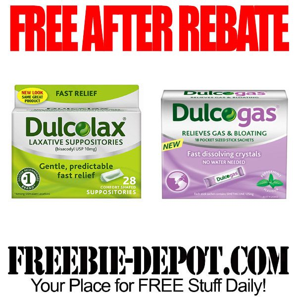 FREE AFTER REBATE – Dulcolax or Dulcogas – Try me FREE Full-Size Medication – Exp 5/12/15  #freebate