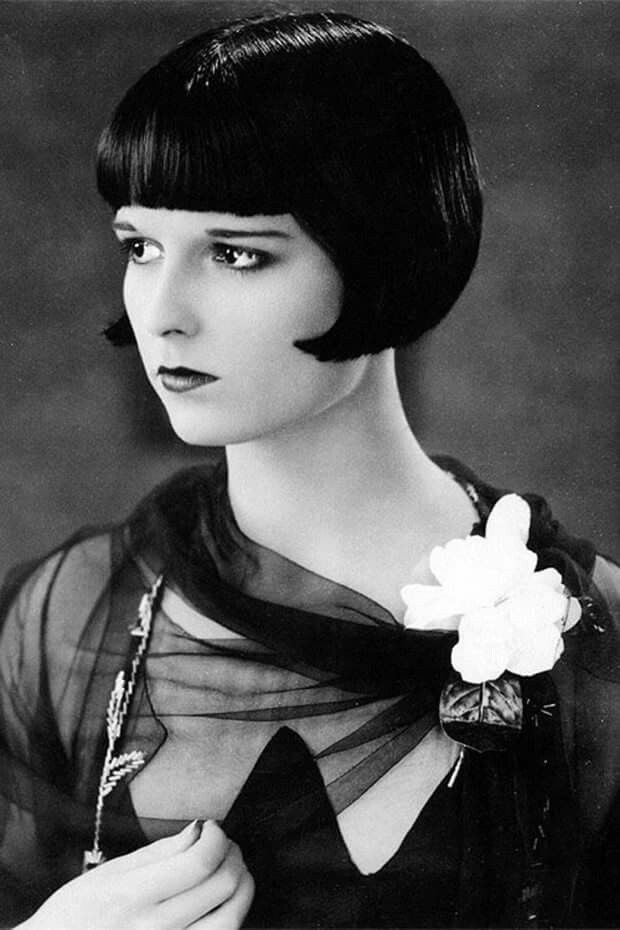 Louise Brooks (1906-1985) American dancer and actress in silent movies and talkies of the 1920s & 30s, an icon of the flapper era, who popularized 'the bob' haircut