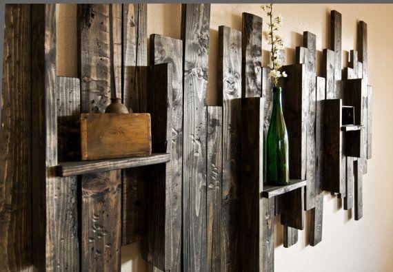 Rustic Display Shelf Decorative Wall Art by UrbanWestDesigns