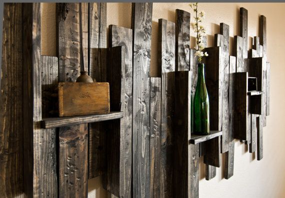 Wall Ideas Rustic : Rustic display shelf decorative wall hanging