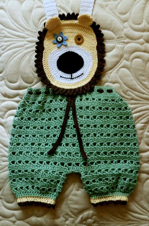 Baby Boy Crochet Pattern PDF 9 to 12mo Overall by SugarToeBabies, $5.00