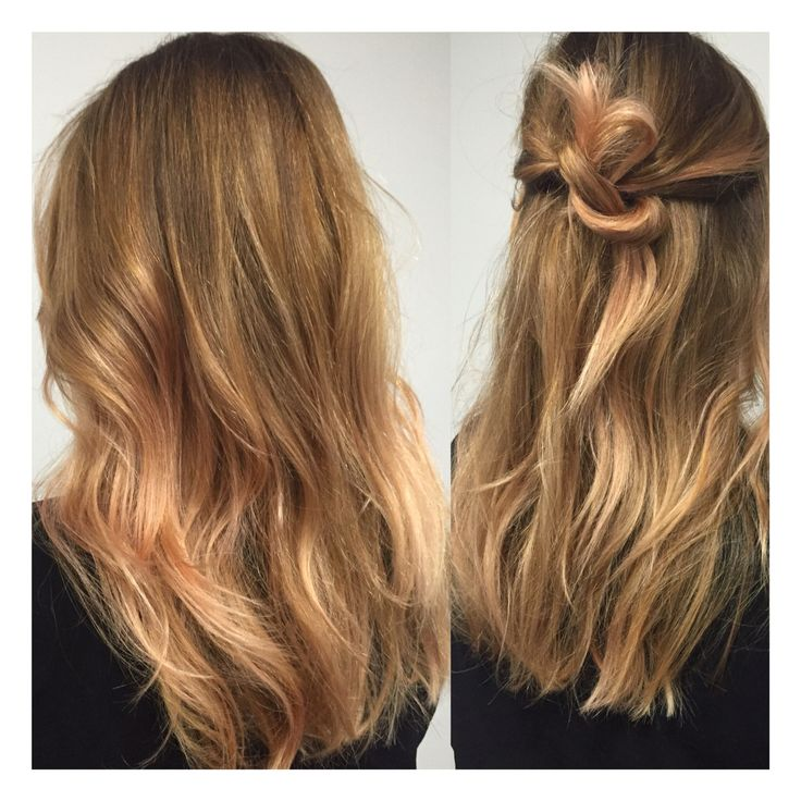 Rose gold toned hair by Mia Doak