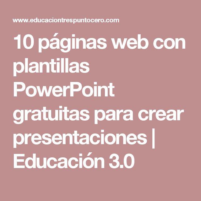 10 páginas web con plantillas PowerPoint gratuitas para crear presentaciones | Educación 3.0
