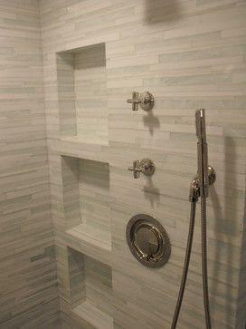 Contemporary Bathroom Ideas | Barcode Glass Tile - modern - bathroom - jacksonville - by Eberling ...