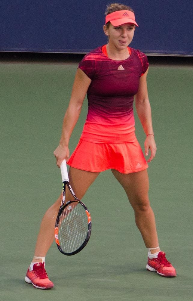 Simona Halep striking a pose.