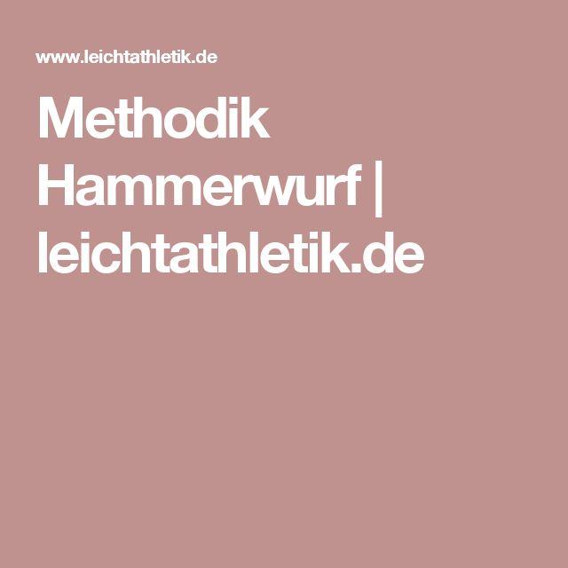 Methodik Hammerwurf | leichtathletik.de