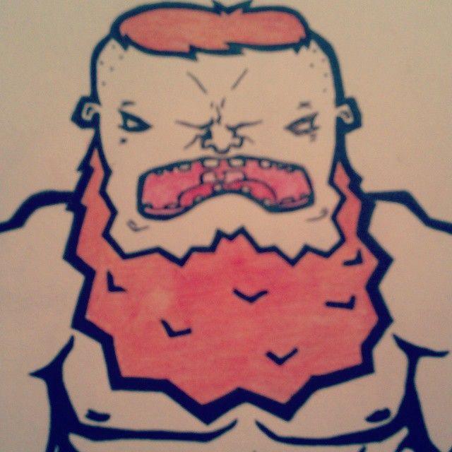 redhead doodle  #redhead #fuckshaving #ginger #doodle #drawing #beard #gingerbeard #beardgang #pureevil #muscles #gain #bodybuilder #vintage #ktch1 #totesamazeballs #lineart #pencil #character #design #creature