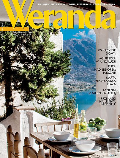 Okładka magazynu Weranda 7/2013 www.weranda.pl