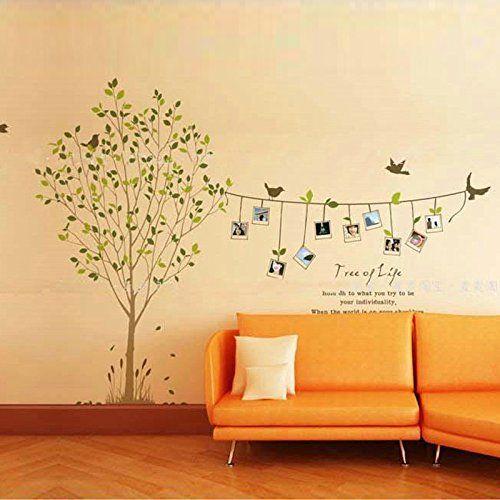 Fancy W nschen Baum Fotorahmen Wandtattoo Kinderzimmer Schlafzimmer Wohnzimmer QT mcitymall http