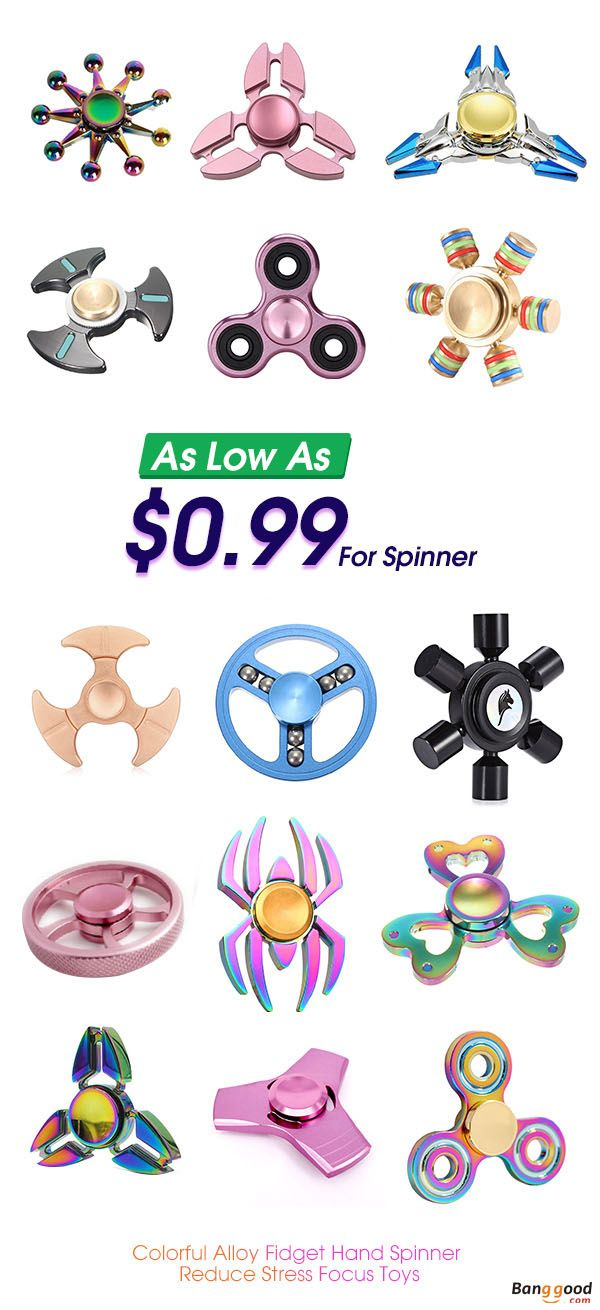 Finger Spinners, As low as $0.99. Tri Rotating Fidget Hand Spinner, Fingers Gyro, Best Toys To Reduce Stress. Easy To Carry, Small, Simple, Discrete and Fun, also effective for Focus and Deep Thought.