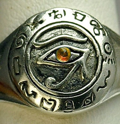 Egypt Eye of Horus Sterling silver Citrine ring Jewelry | eBay