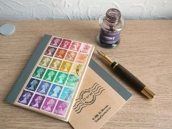 Recycled Rainbow Lined Journal Kraft Writing Notebook