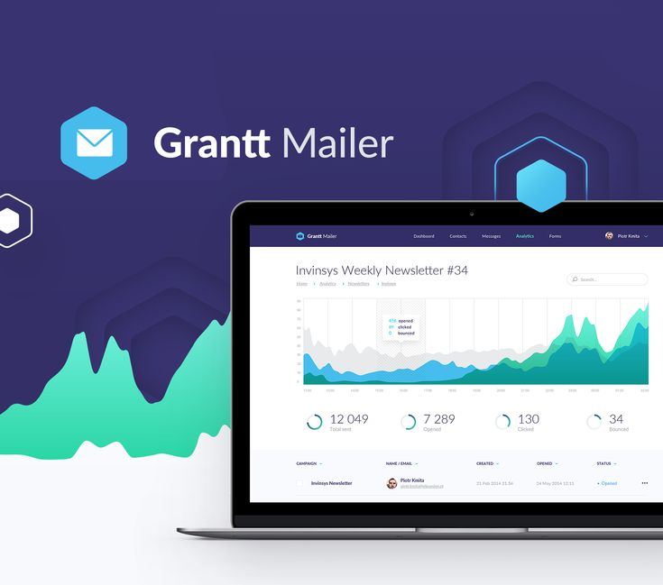 """Check out this @Behance project: """"Grantt Mailer - web application & landing page"""" https://www.behance.net/gallery/52933125/Grantt-Mailer-web-application-landing-page"""