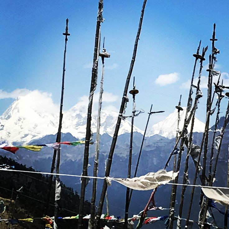 Mount Jomolhari on the left... The second highest peak in Bhutan. Did you know that mountaineering is banned in Bhutan?