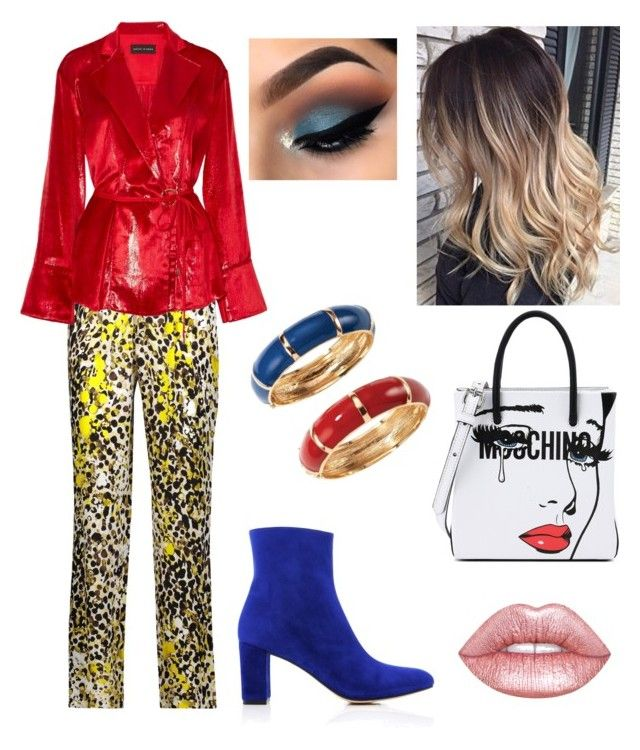 """""""Random Outfit"""" by miwemporium92 on Polyvore featuring Roberto Cavalli, Maryam Nassir Zadeh, Moschino, Michael Lo Sordo, Avon and Lime Crime"""