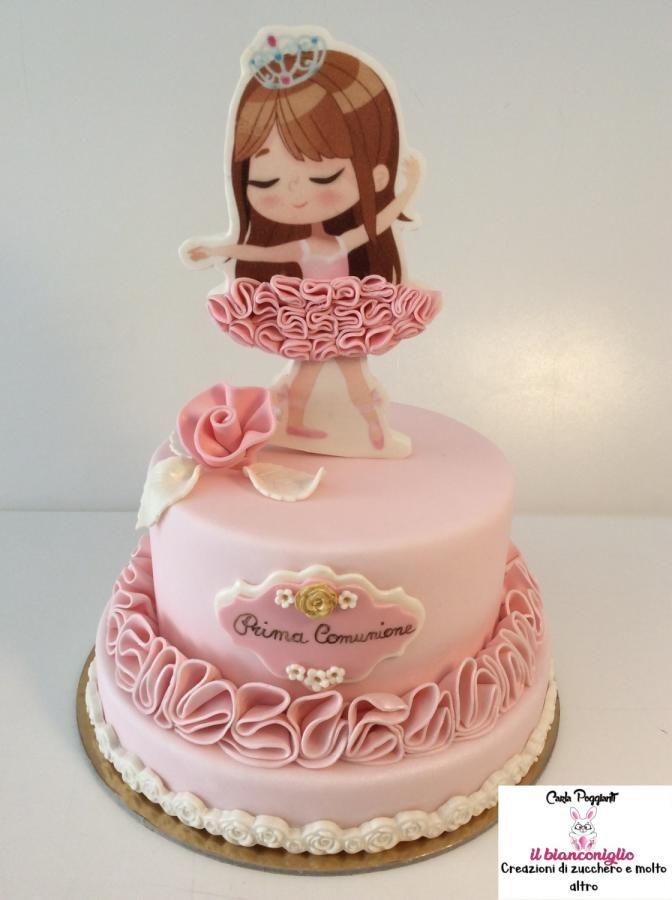 First Communion Alice By Carla Poggianti Il Bianconiglio Ballerina Birthday Cake Ballet Birthday Cakes Cake Designs For Girl