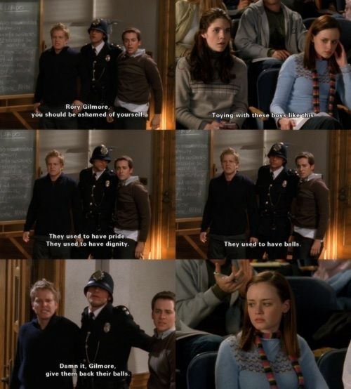 Gilmore Girls- this scene plus the one where Richard pranks Logan are my all time favorite scenes ever!!!
