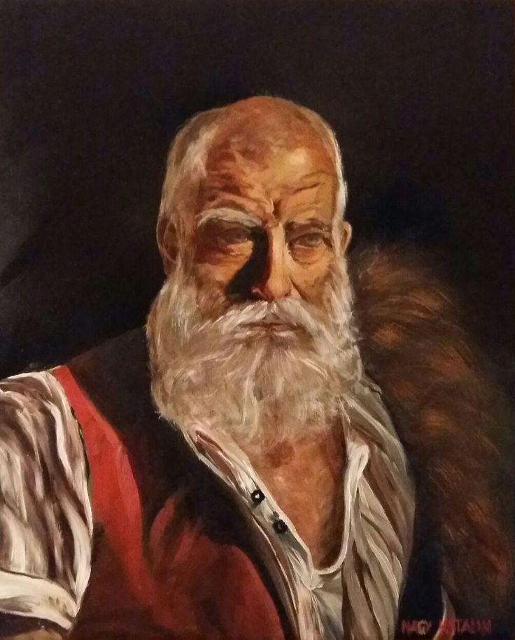 Portré 60x50 olaj farost