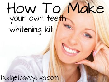 How To Make Your Own Teeth Whitening KitWhitening Kits, Makeup Tools, Diy Teeth, Whitening Teeth, Money Savers, White Teeth, Teeth Whitening, Whiter Teeth, Baking Soda