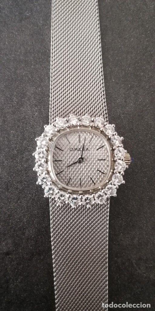 Omega Reloj Oro Blanco de 18K 24 Diamantes (1965) Mujer 45