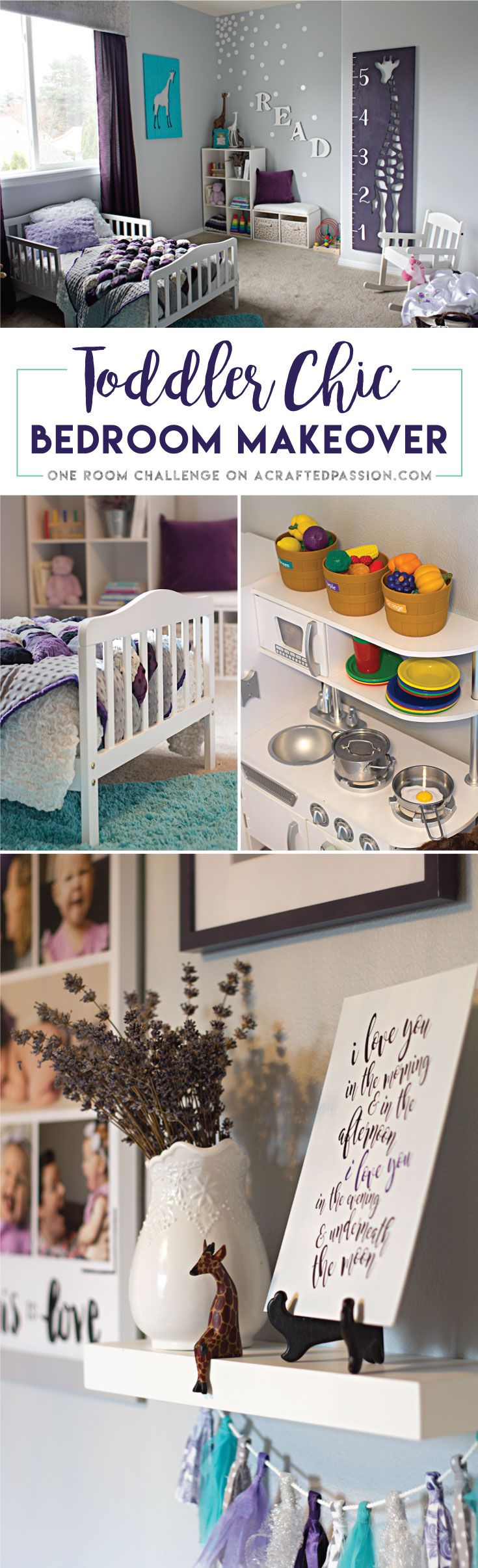A Cute Toddler Girl Bedroom With Many DIY Ideas