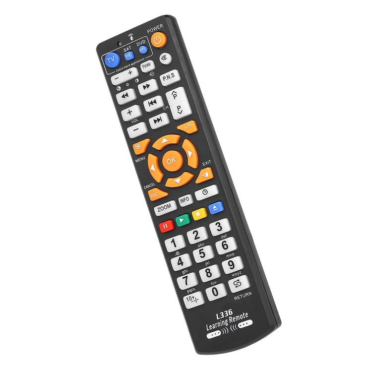 Universal TV Remote Control Wireless Smart Controller Replacement with Learning Function Remote Control for Smart TV CBL DVD Black Sales Online - Tomtop
