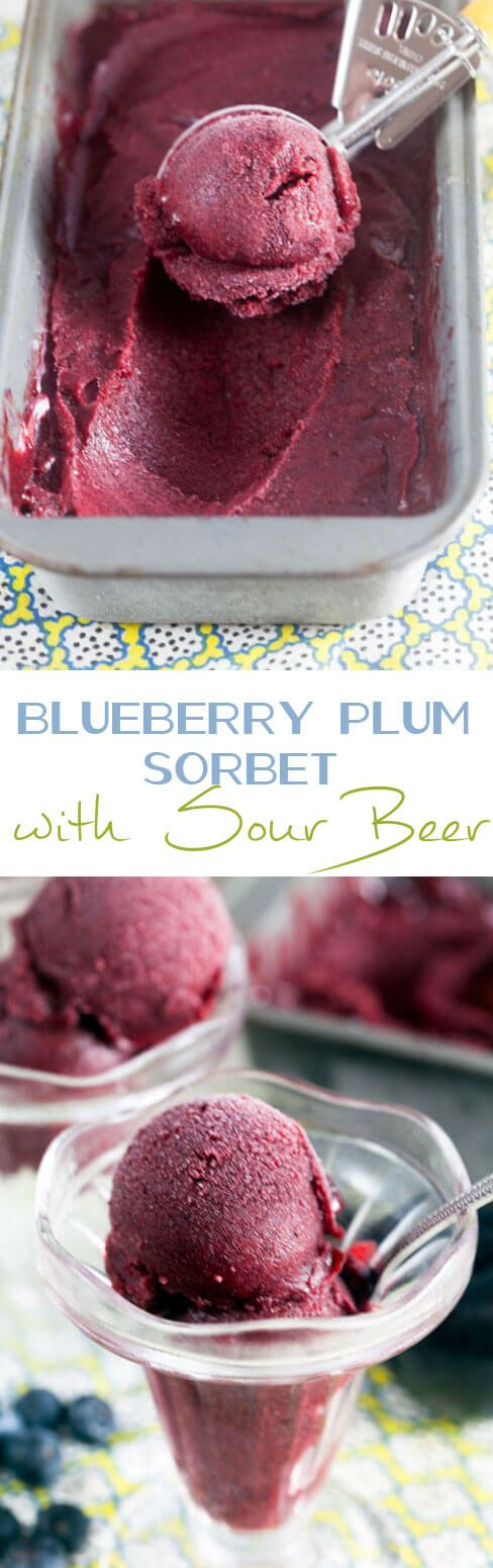 Blueberry Plum Sorbet with Sour Beer. This sorbet is sweetened with ...