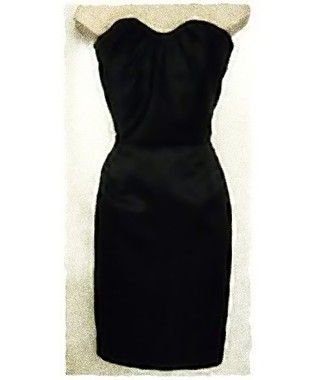 Damsel White Label Size M NWT Solid Black Strapless Cocktail Sheath