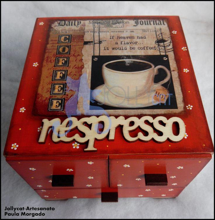 Jollycat-Artesanato : Caixa para cápsulas de café