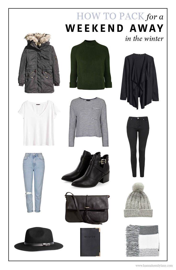 What to pack for a weekend away - Winter // www.hannahemilylane.com // @hannahemilylane