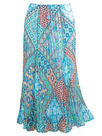 Ruby Rd. Ti Amo Printed Broomstick Skirt