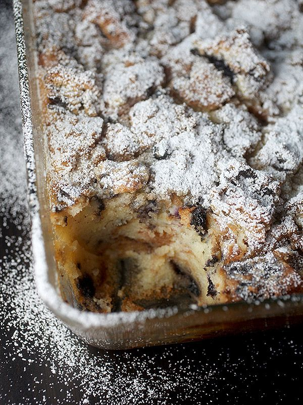 Easy Blueberry Muffin Bread Pudding (recipe from Bakerella)